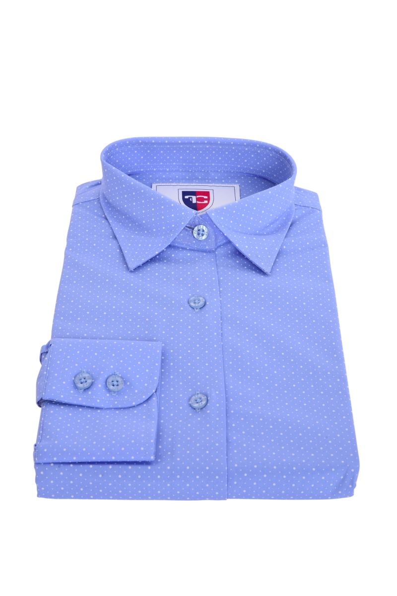 FC2236M-SOPHIA košeľa slim fit s dlhým rukávom blue white dots