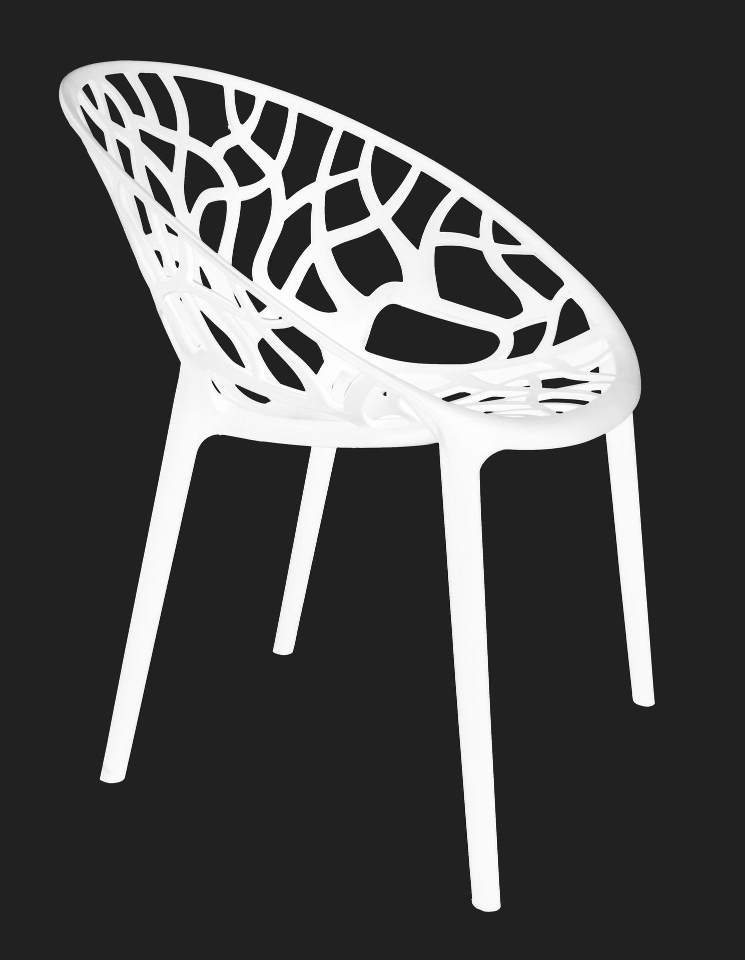 Designová židle  ARBOREAL white
