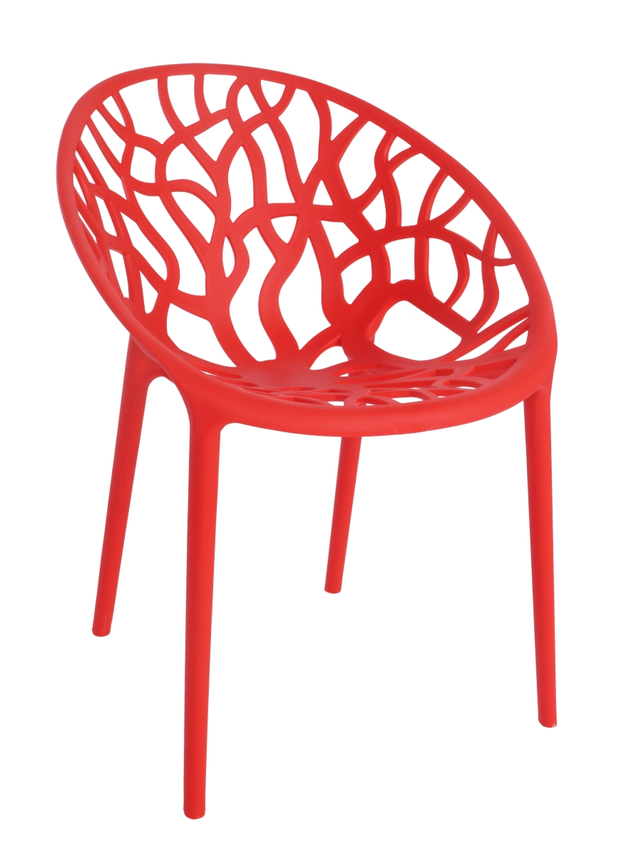 Designová židle  ARBOREAL raspberry