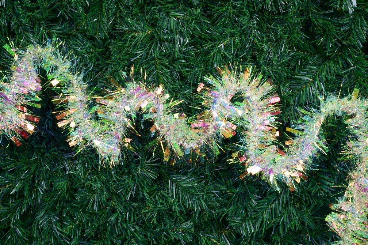 BRILANTINO SHAGGY, perleťový duhový řetěz 200 cm