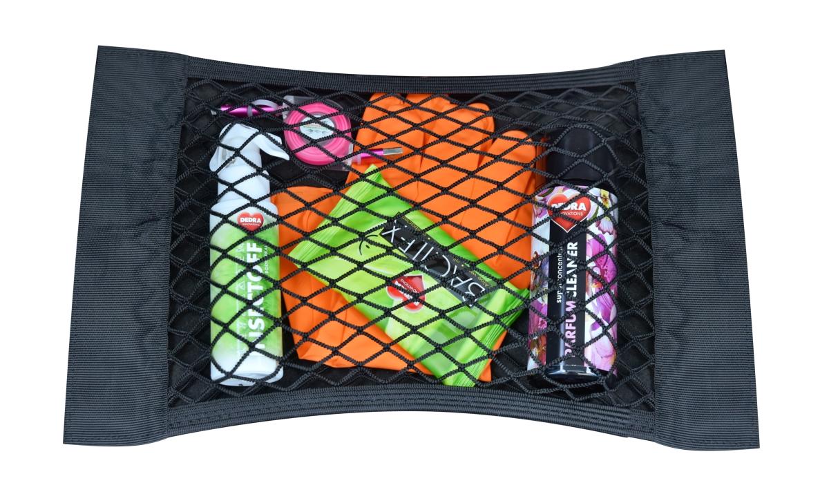 DA22501-Elastické sieťované vrecko do auta na suchý zips