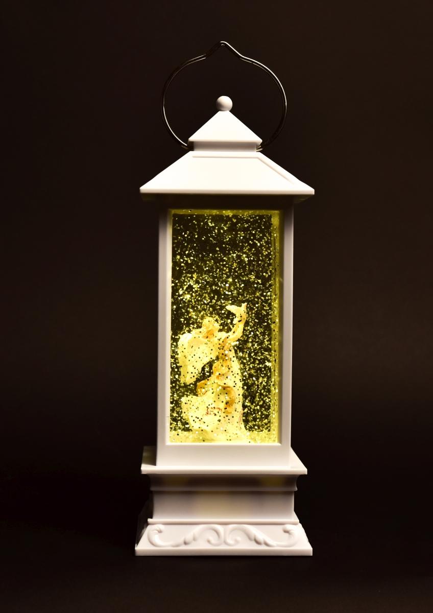 30 cm LED lucerna, a poletujícími třpytkami