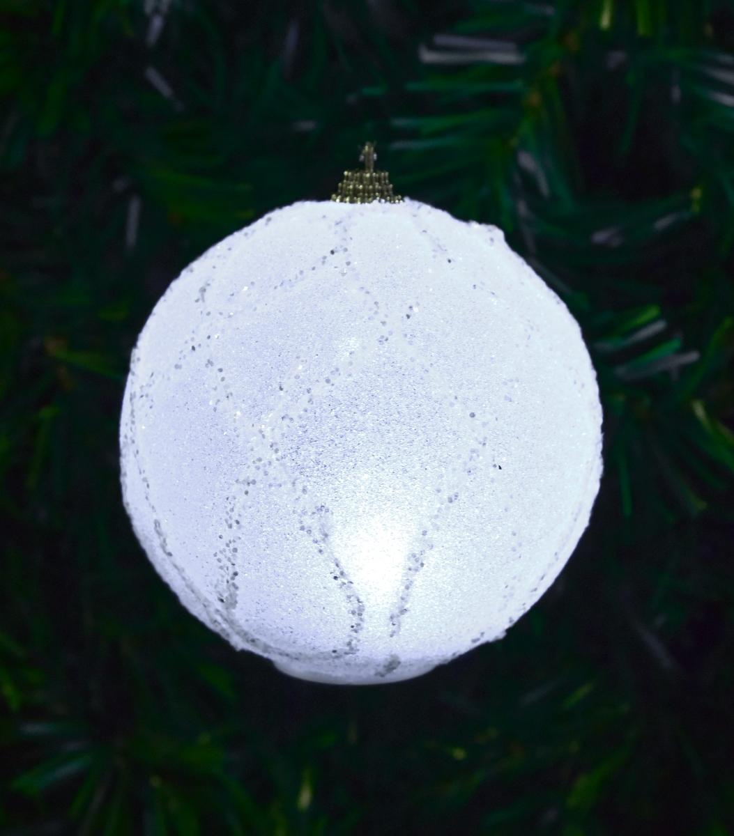 XL svítící LED koule s LED osvětlením třpytivé ornamenty