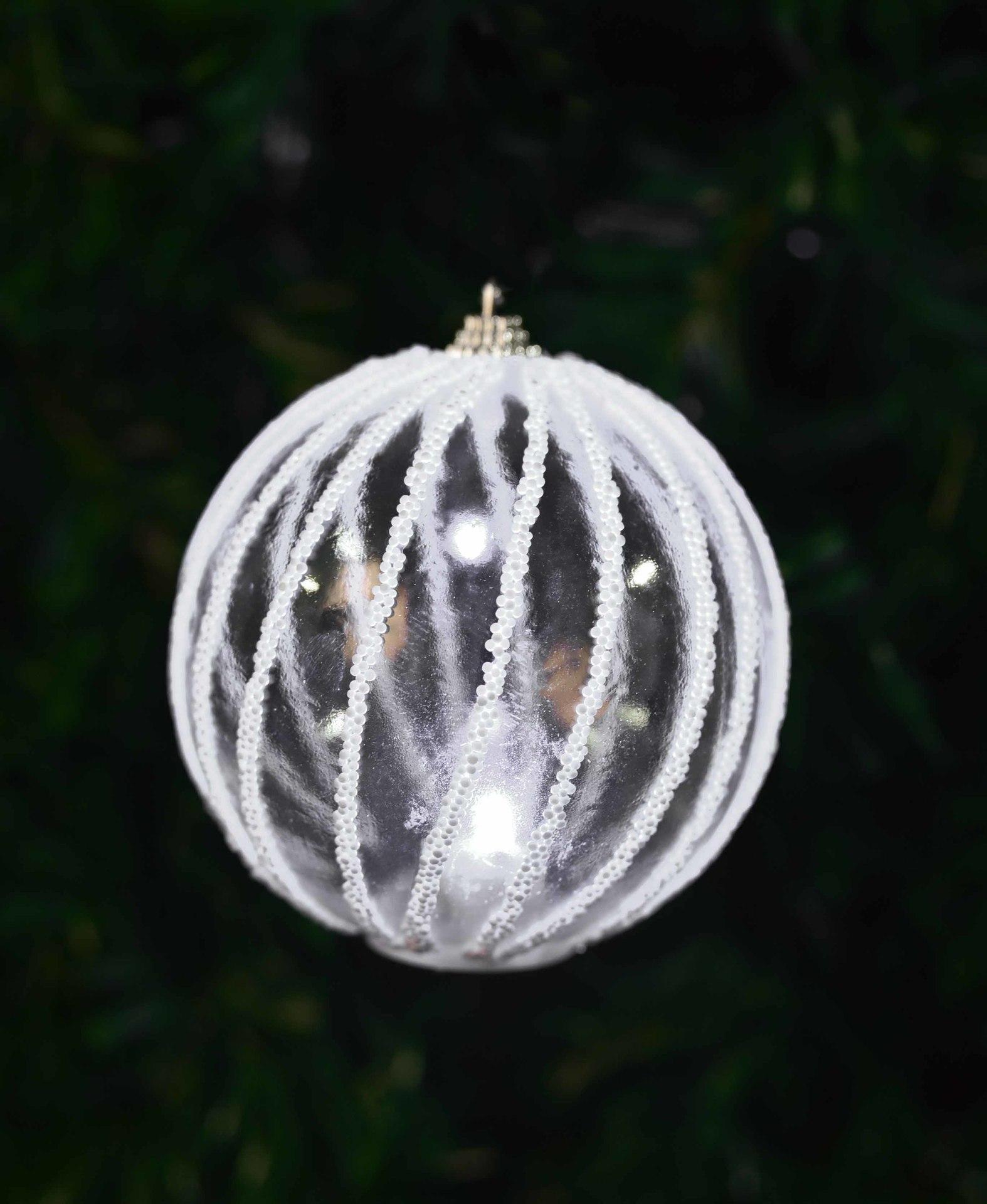XL svítící LED koule, s bílým lemováním