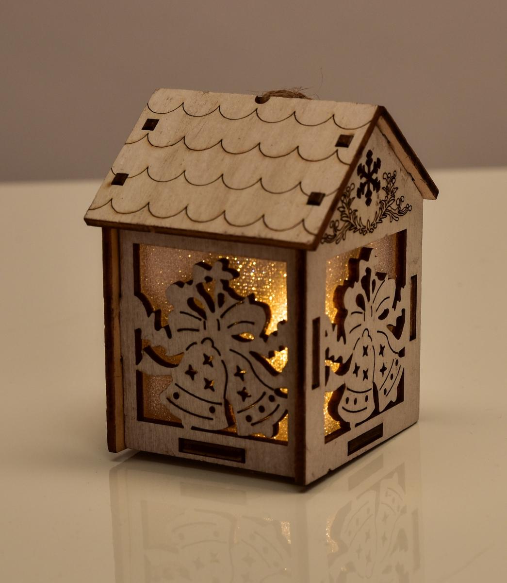Dřevěný domek, s motivy zvonků