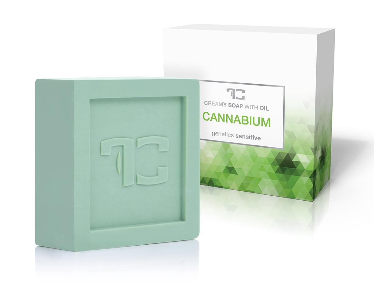 CANNABIUM rostlinné krémové mýdlo, s konopným olejem
