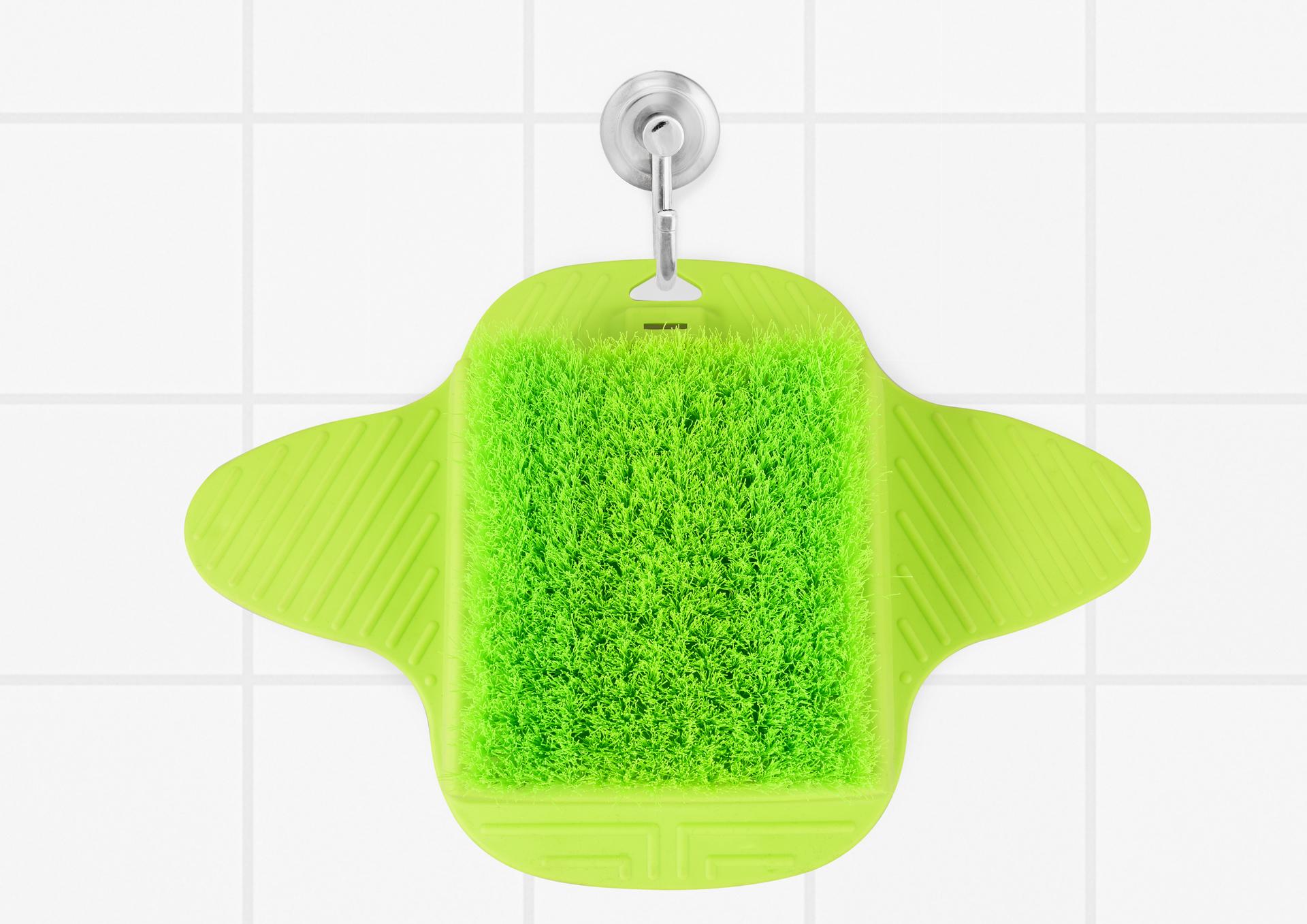 NOHOKARTÁČ s přísavkami na mytí chodidel do vany i sprchy