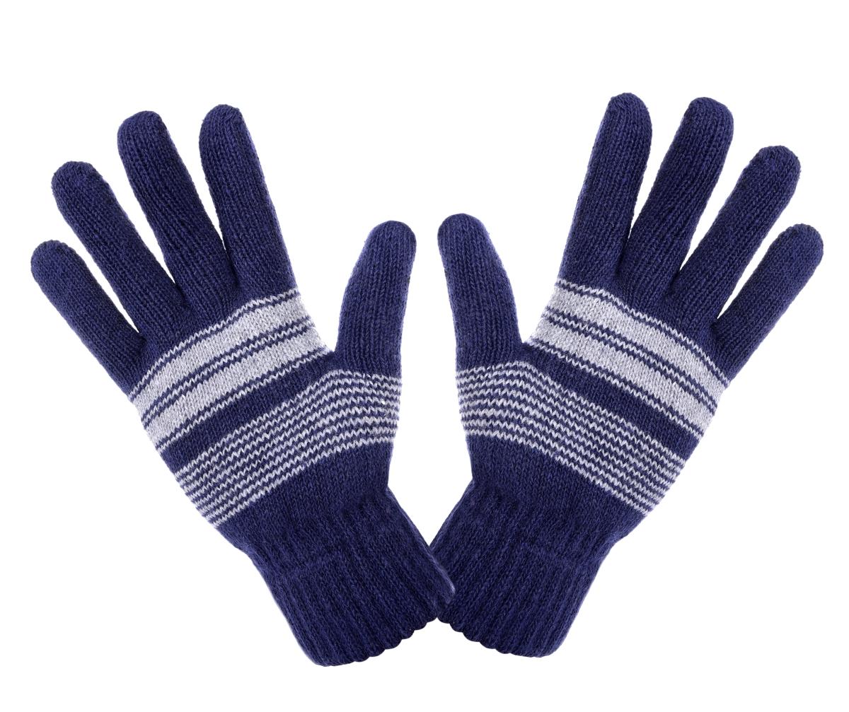 Pánské zimní pletené rukavice tmavě modré
