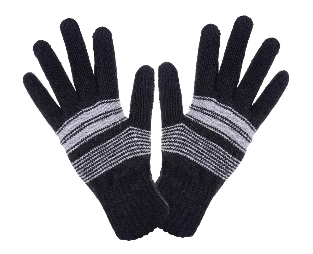 Pánské zimní pletené rukavice černé