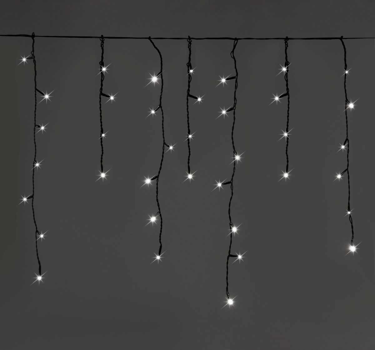 LED světelný déšť, 200 LED diod, 8 programů, studené bílé světlo
