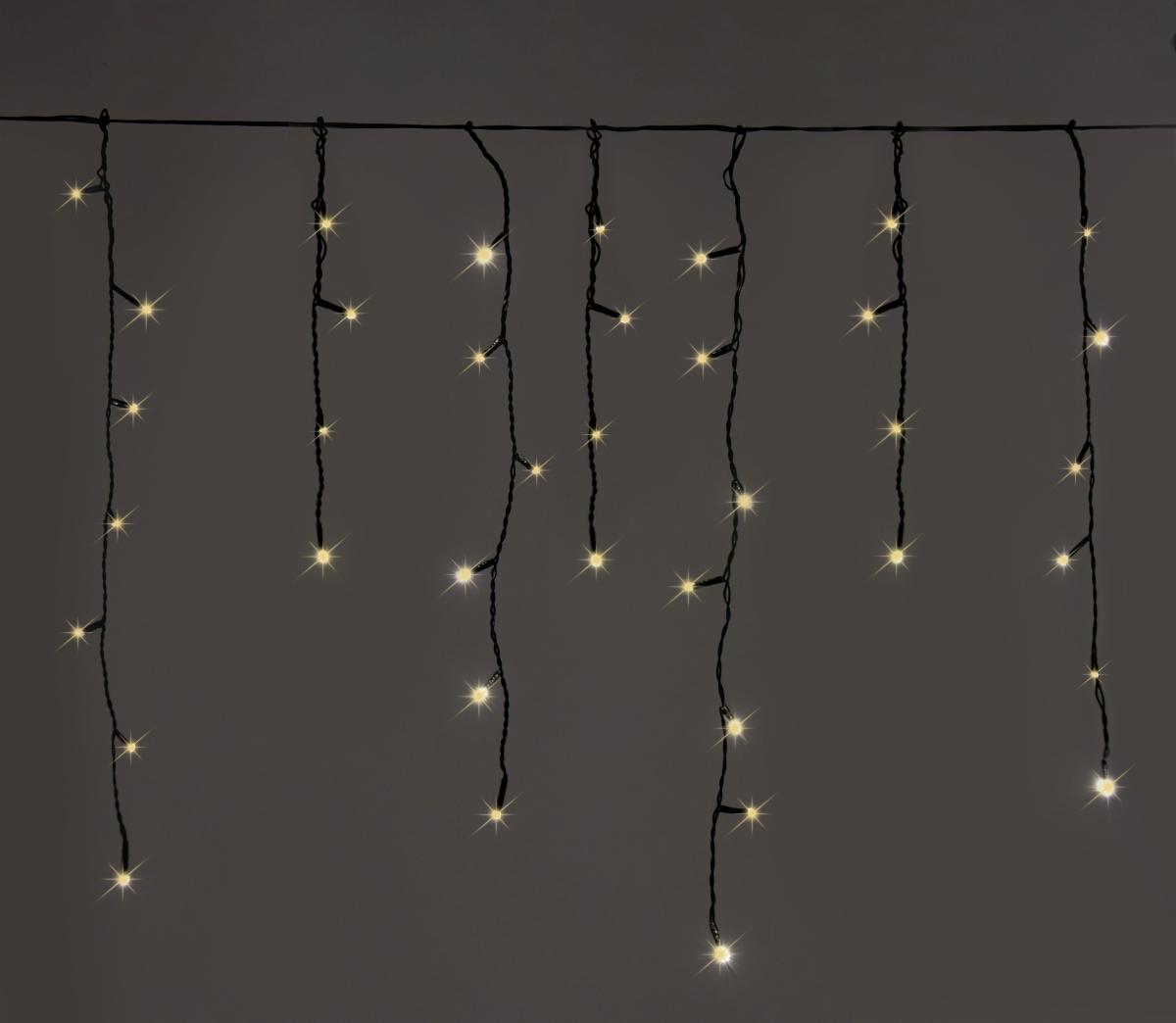 LED světelný déšť 200 LED diod, 8 programů, teplé bílé světlo