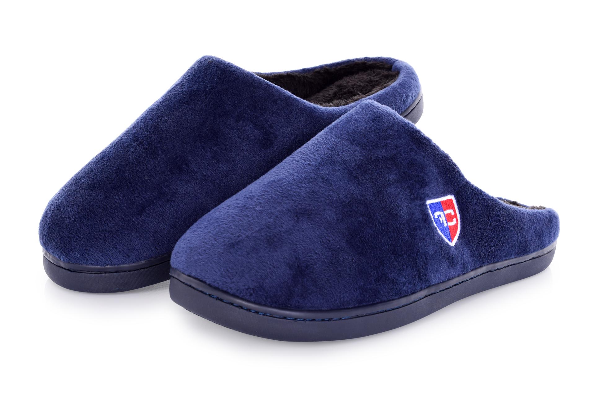 Domácí pantofle FC hřejivé  královsky modré vel.1 (40-41)