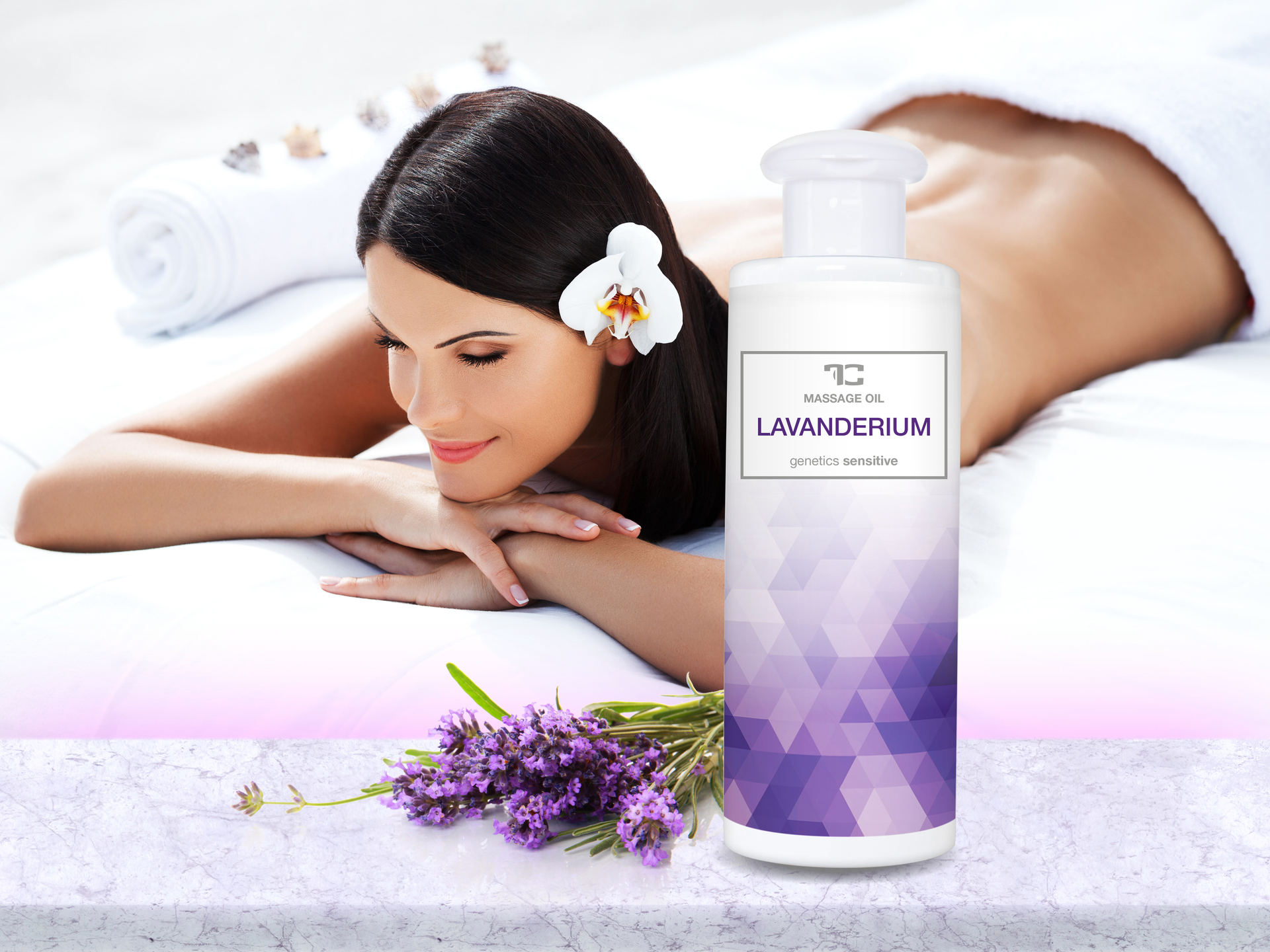 FC8791G-LAVANDERIUM masážny olej na báze mandľového oleja