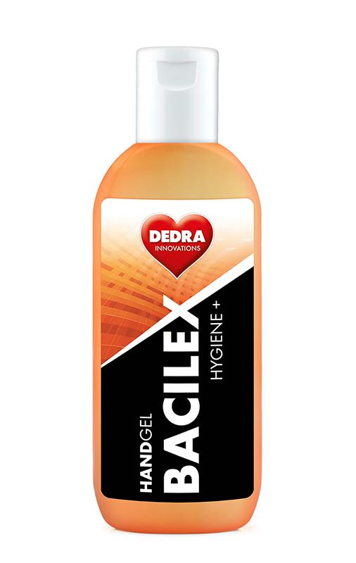 Čisticí gel na ruce s vysokým obsahem alkoholu (60%), 100 ml, HANDGEL BACILEX HYGIENE+