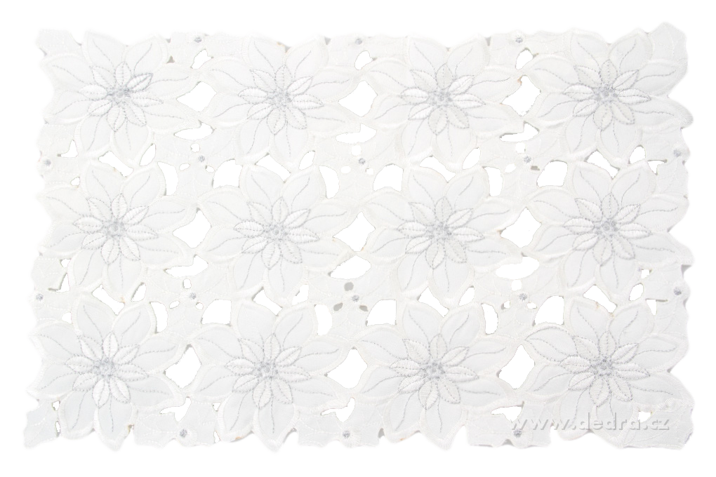Exkluziv. slavnostní ubrus 85 x 85 cm celoplošná výšivka
