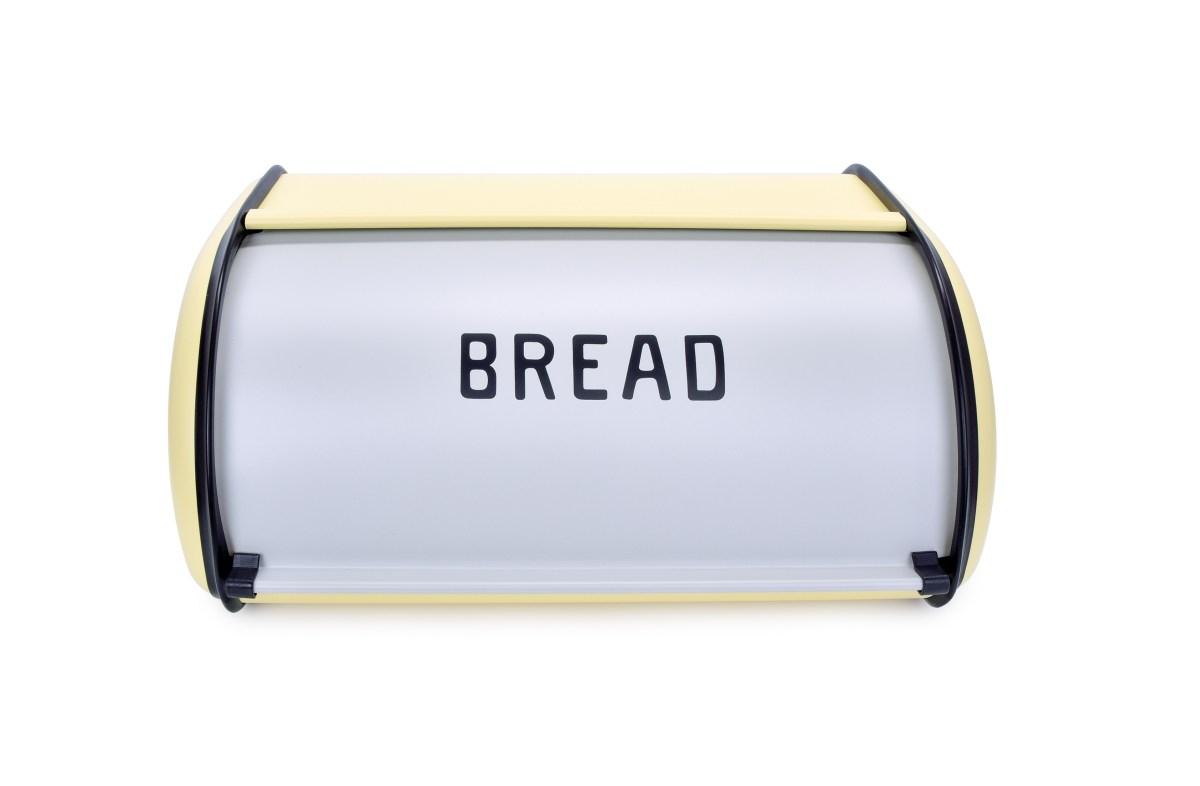 Kovový chlebník BREAD, vanilkový