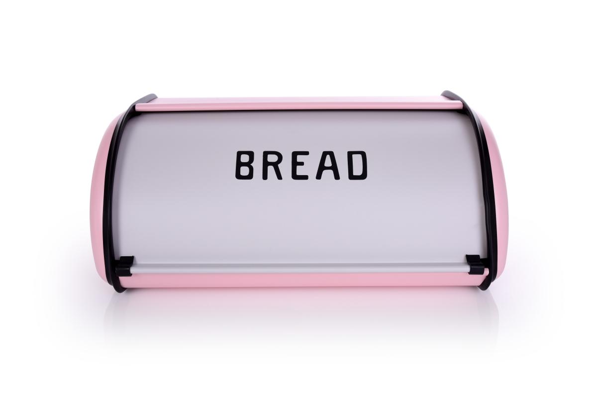 Kovový chlebník BREAD růžový