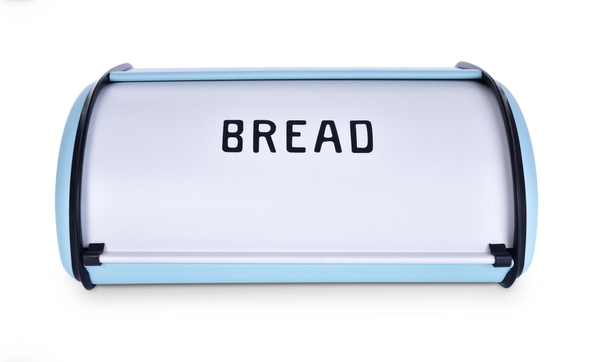 Kovový chlebník BREAD tyrkysový