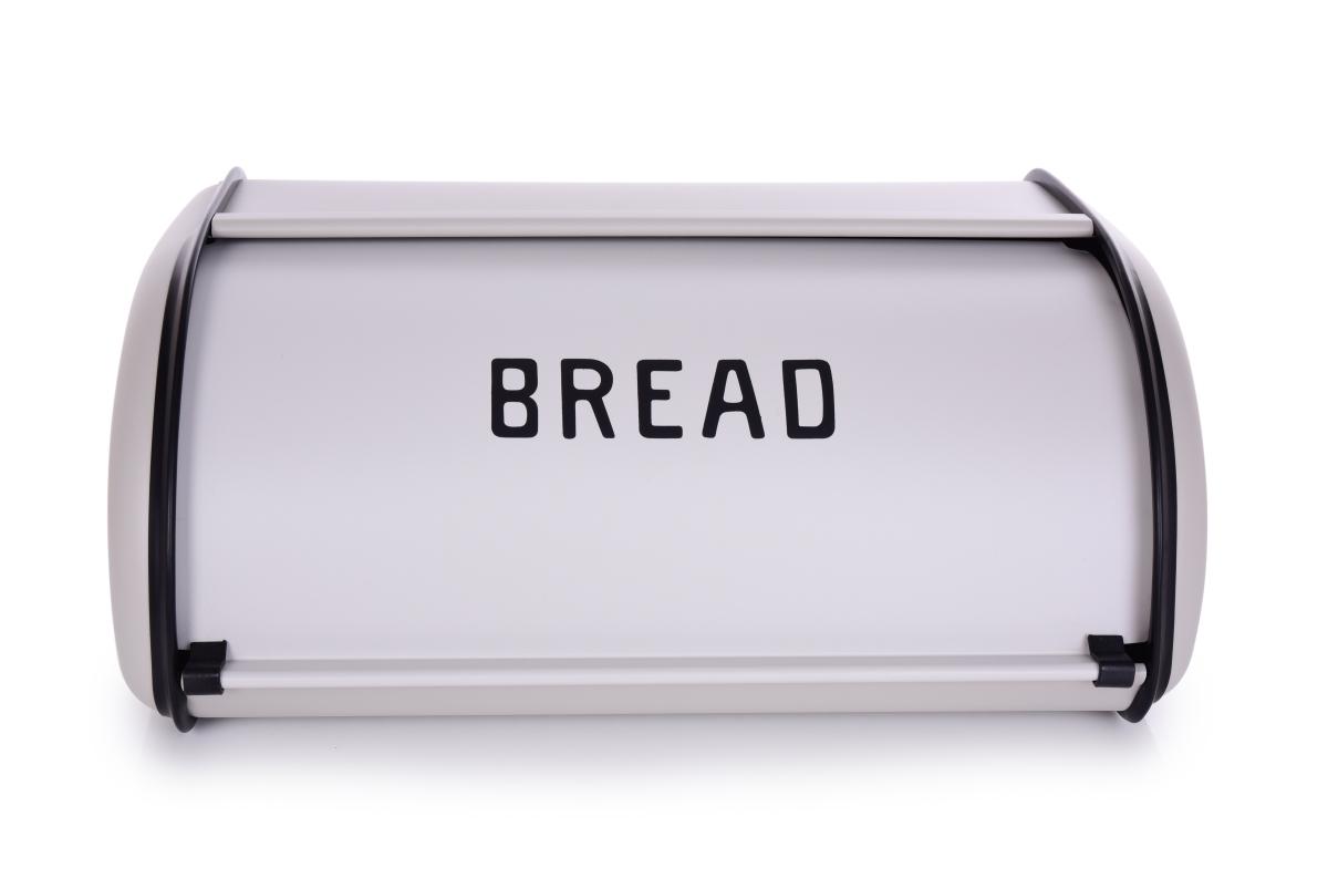 Kovový chlebník BREAD, šedý