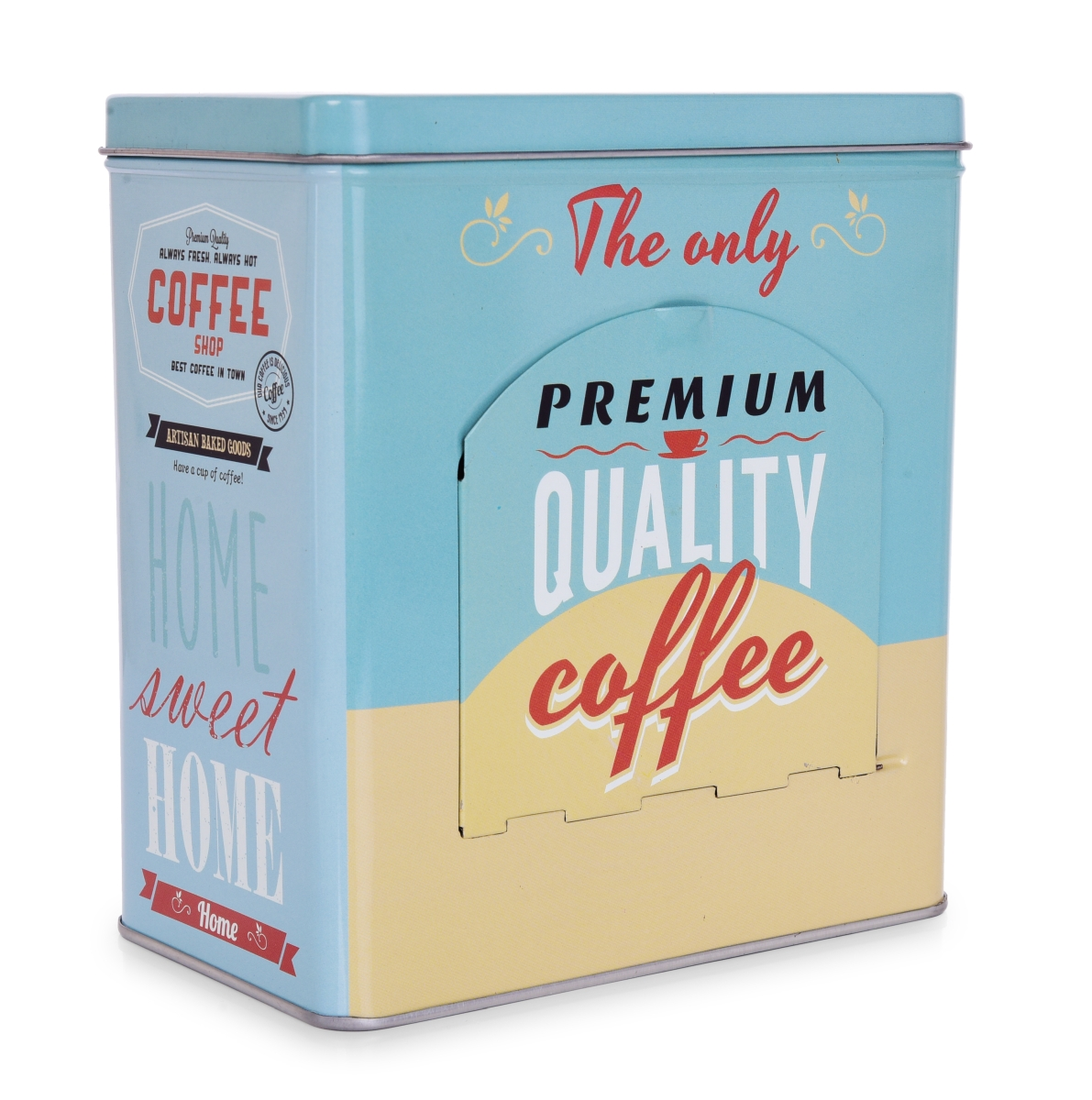 QUALITY COFFEE, kovová dóza na kávové kapsle