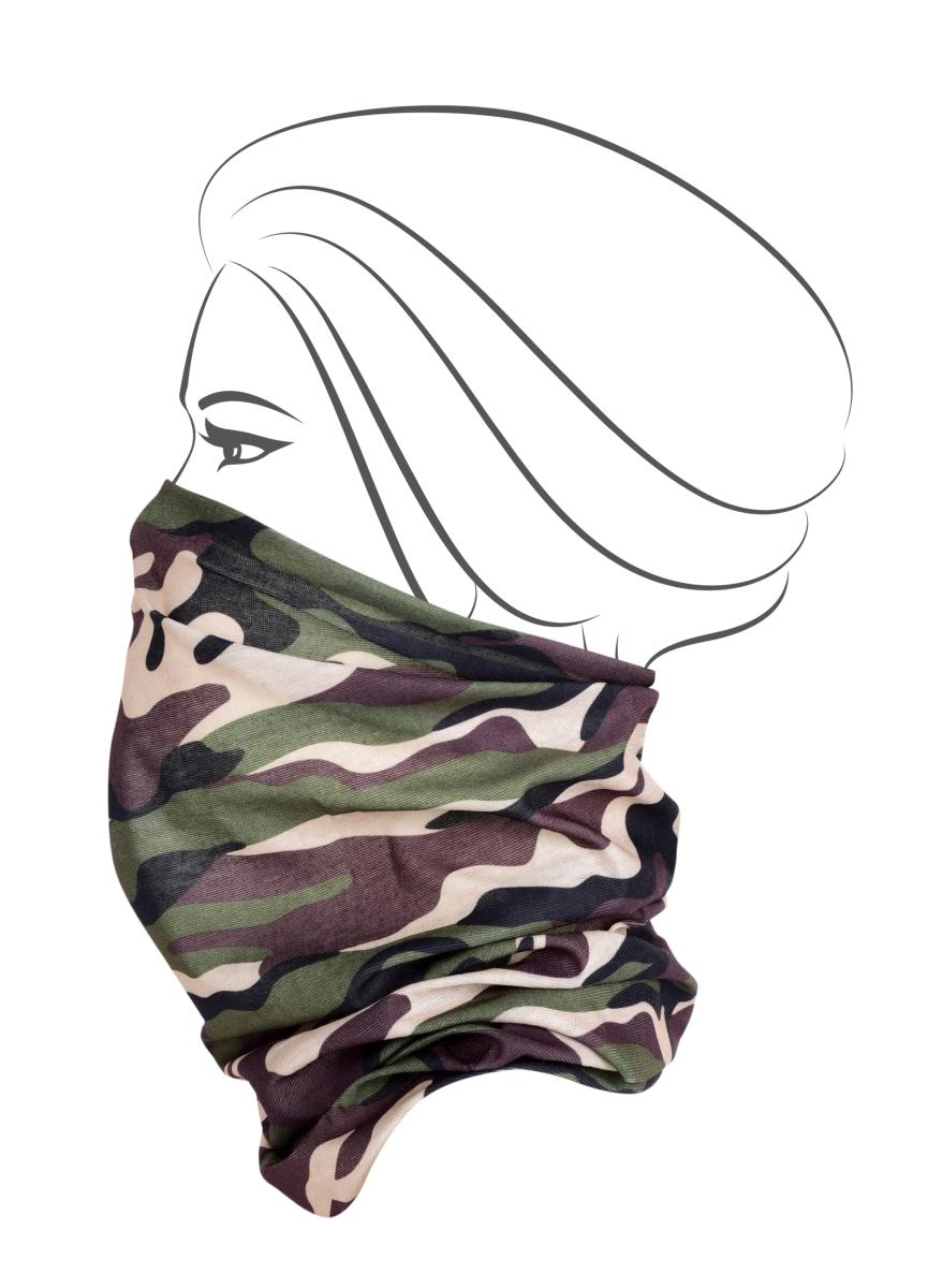 Multifunkční šátek, khaki maskáčový