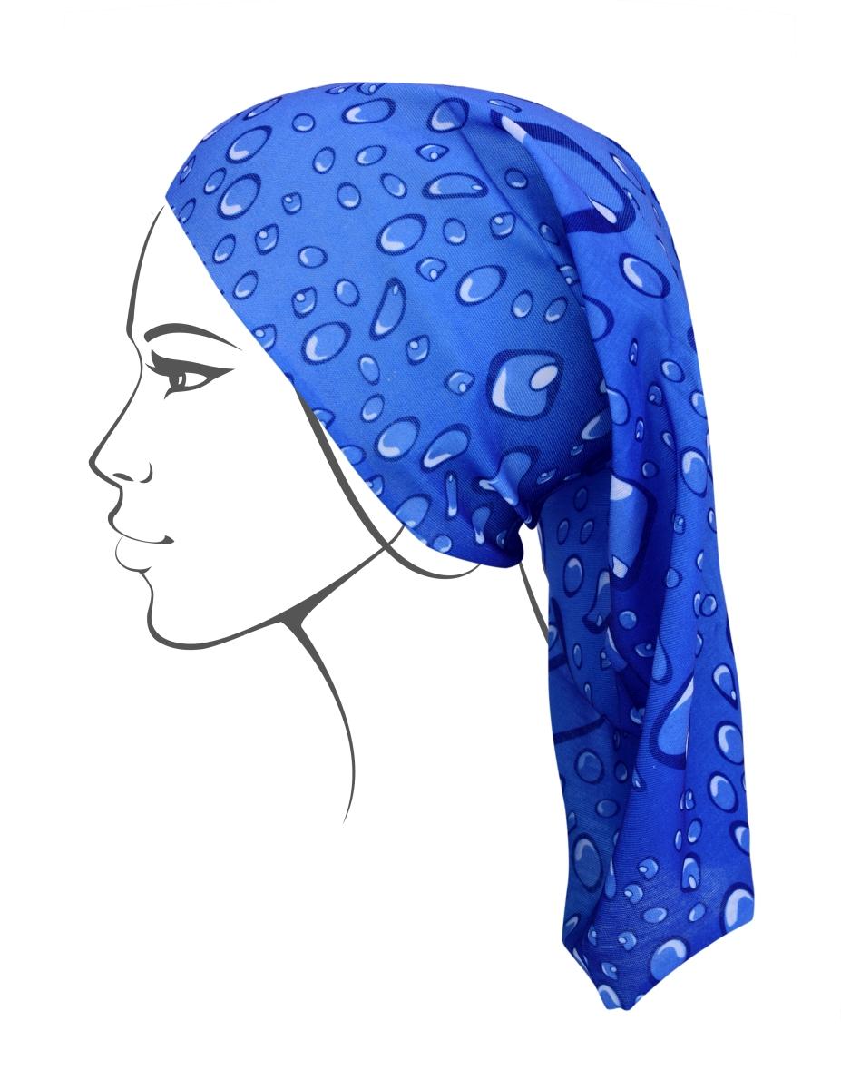 Multifunkční šátek, modrý s bublinkami