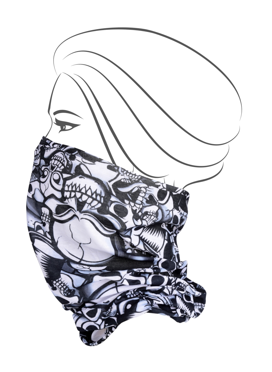 Multifunkční šátek, lebky