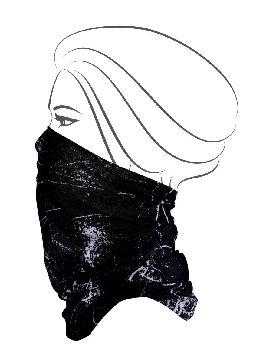 Multifunkční šátek, černý mramorový