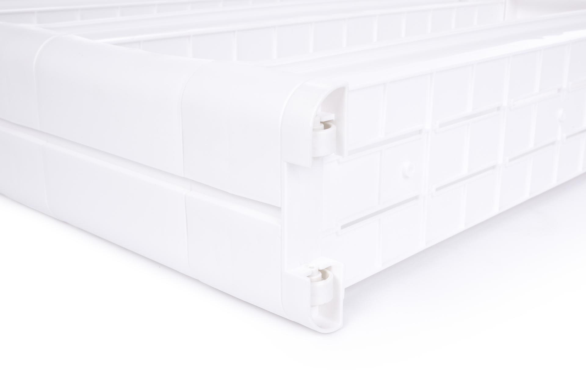 Pojízdný regál SLIM WHITE 11,5 cm do úzkých prostor, 3 patrový