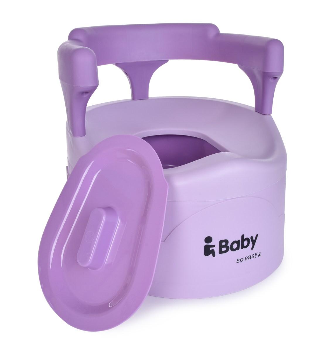 BABY TRŮN nočník pro děti s opěradlem fialový