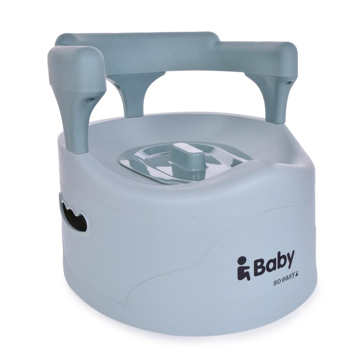 BABY TRŮN nočník pro děti s opěradlem mintový