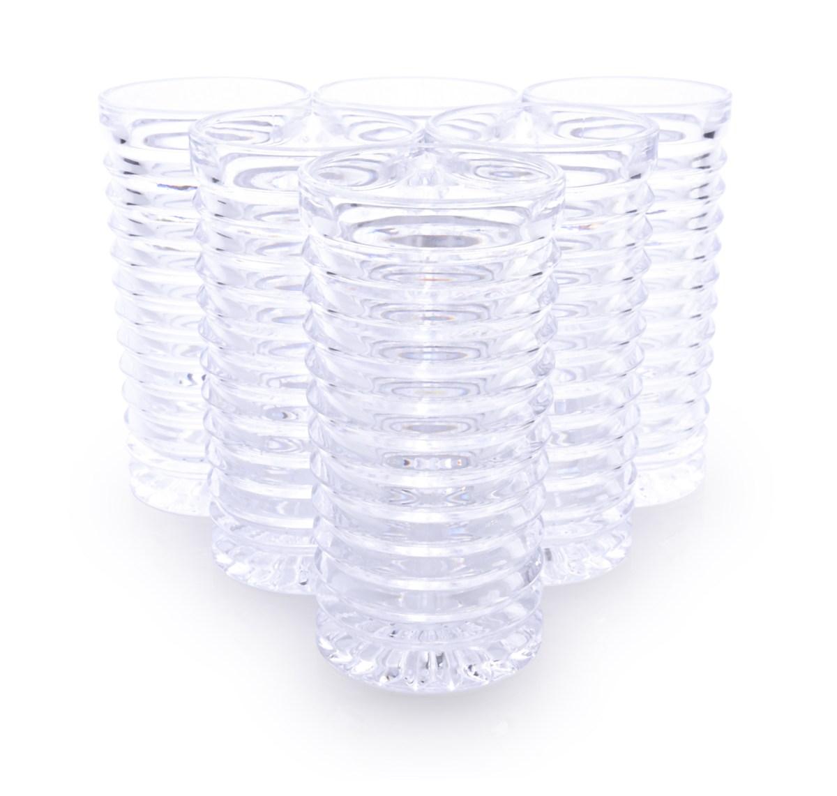 6 ks sada sklenice SPIRAL objem 260 ml výška 13,5 cm