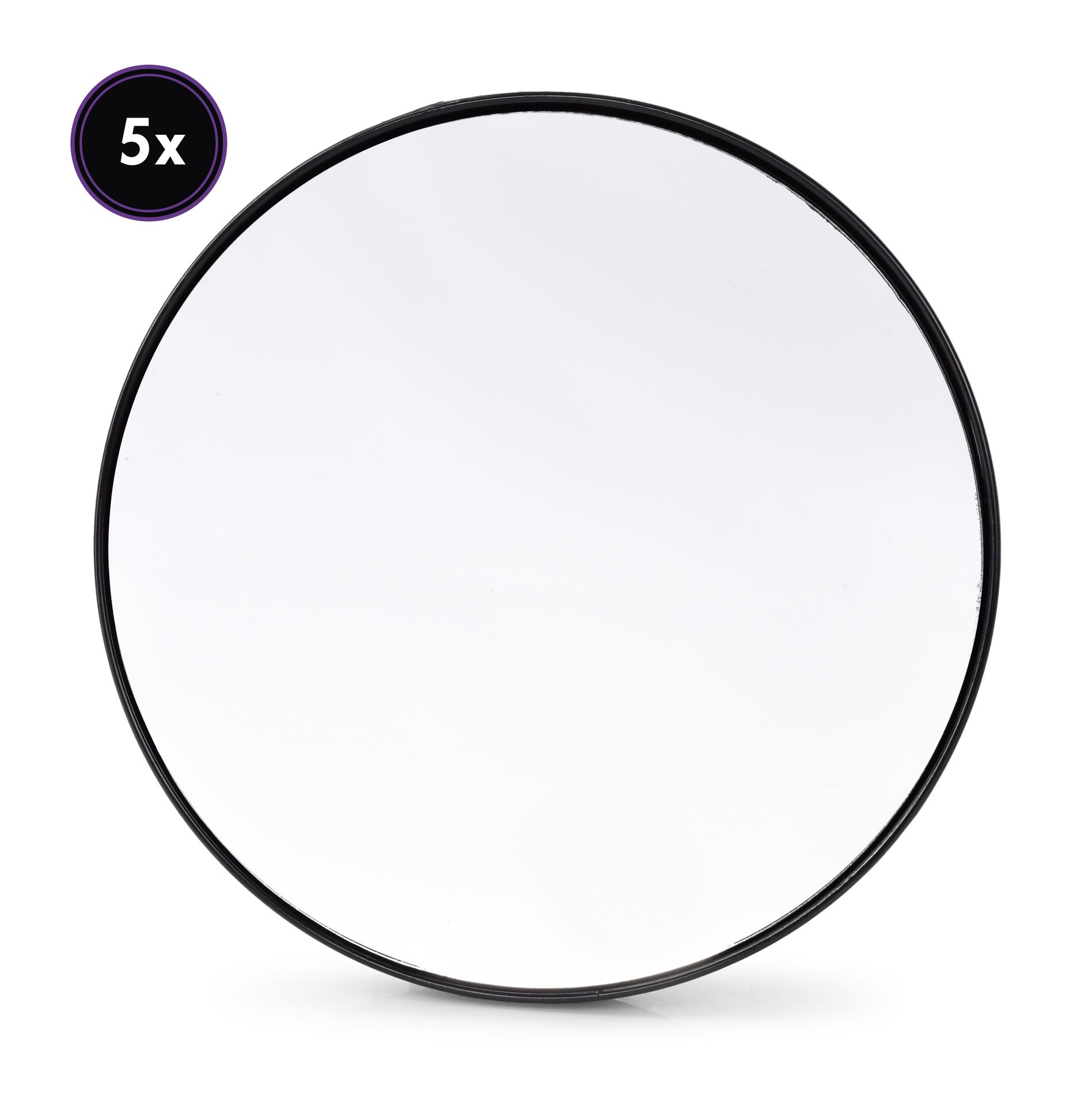 Zvětšovací kosmetické zrcátko s přísavkami, 5x zvětšuje