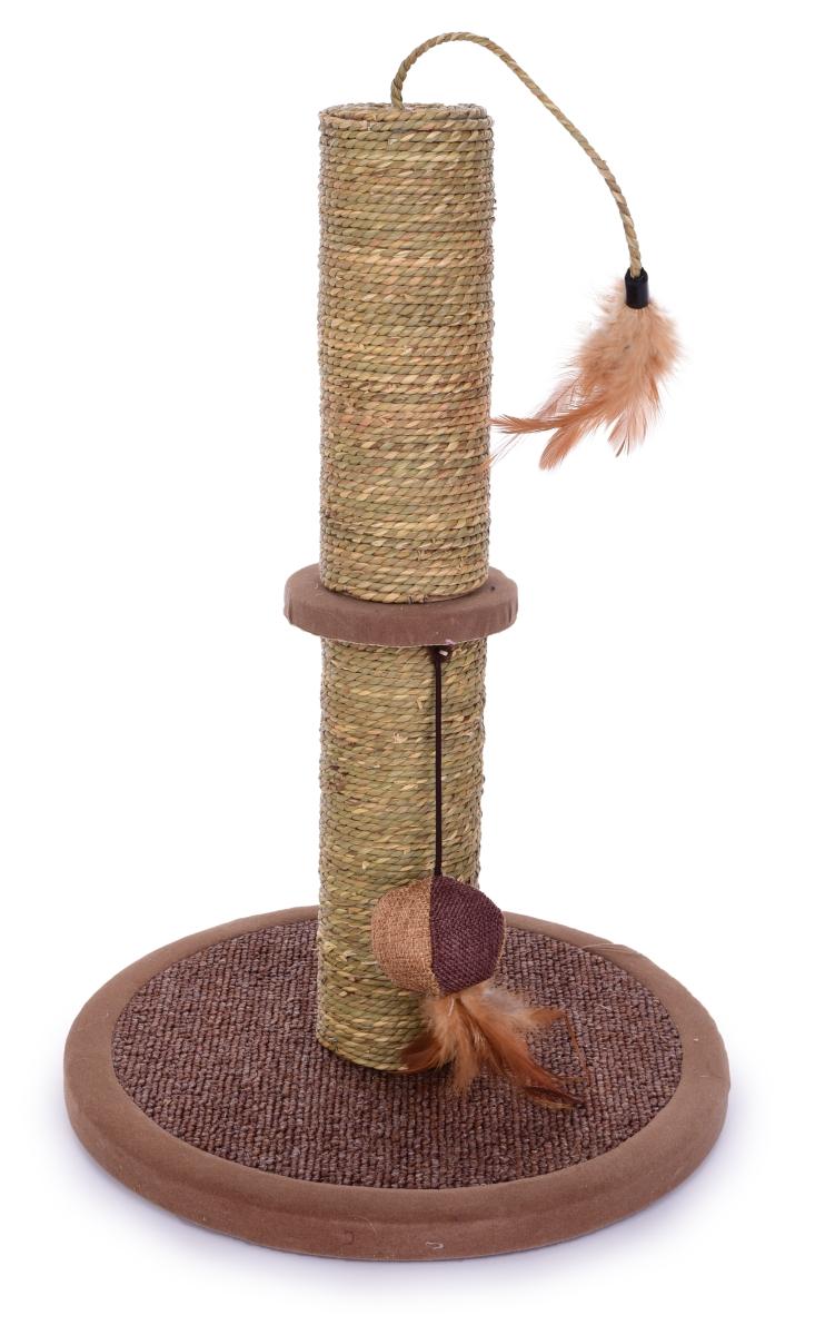 Kočičí škrabadlo  s hračkami výška 45 cm