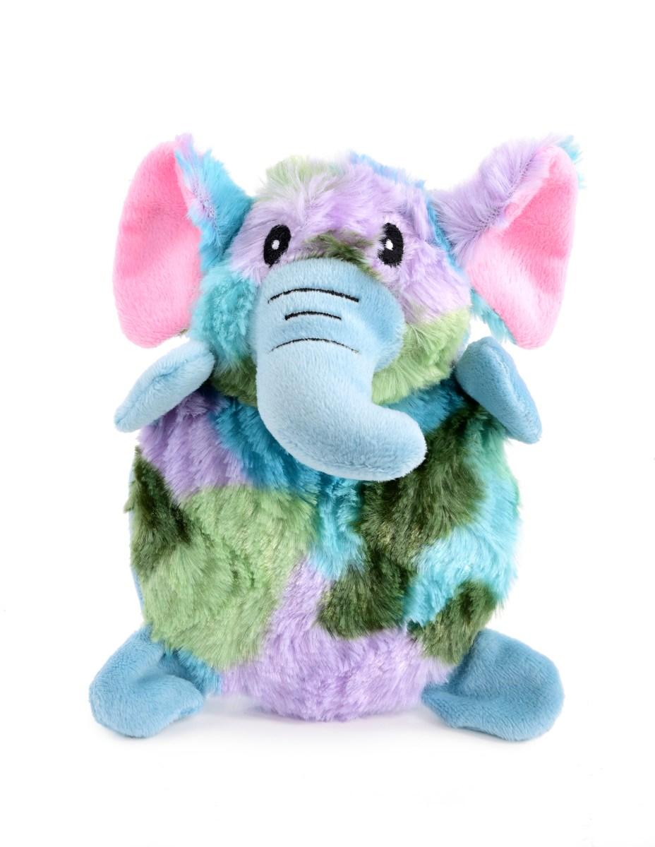 Pískací plyšová hračka pro pejsky, barevný slon