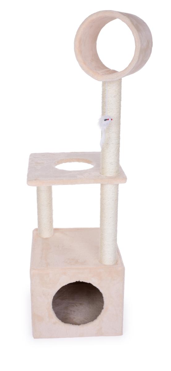XL kočičíškrabadlo/prolézačka v krémové barvě