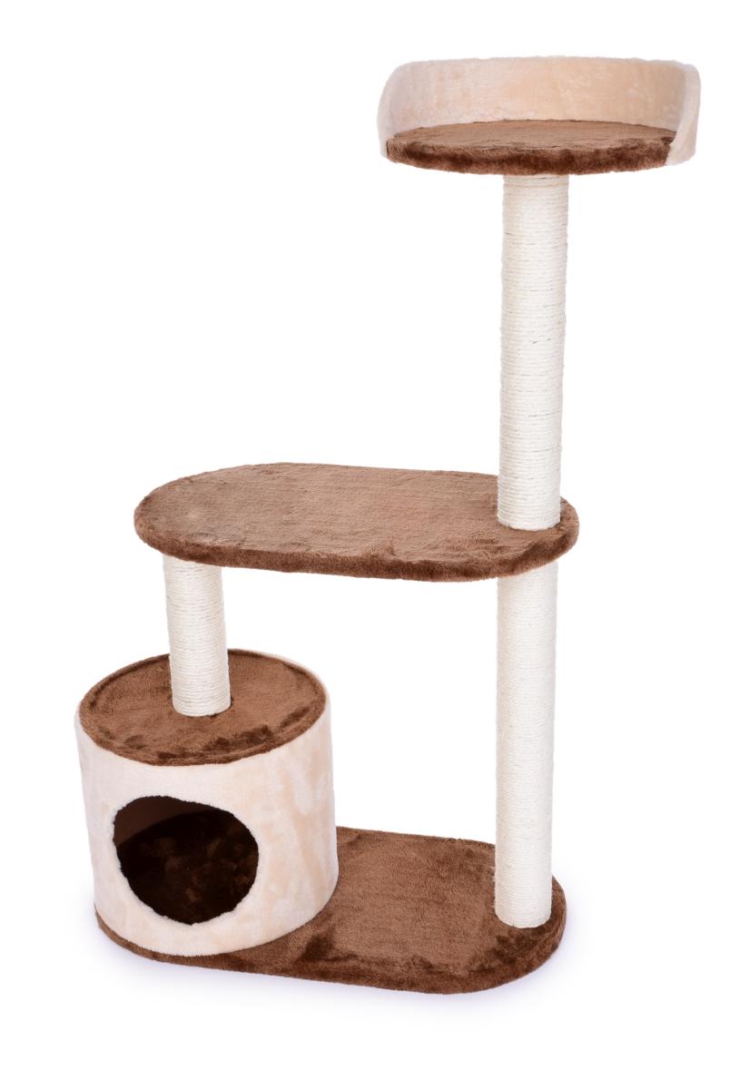 Kočičíškrabadlo/prolézečka ve smetanově čokoládové barvě 100 cm