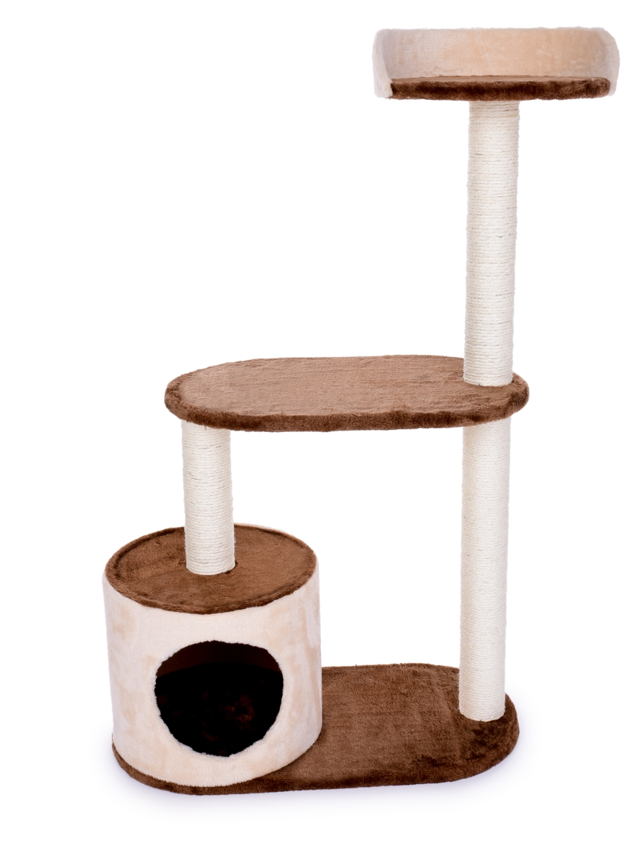 Kočičí škrabadlo/prolézečka, ve smetanově čokoládové barvě 100 cm