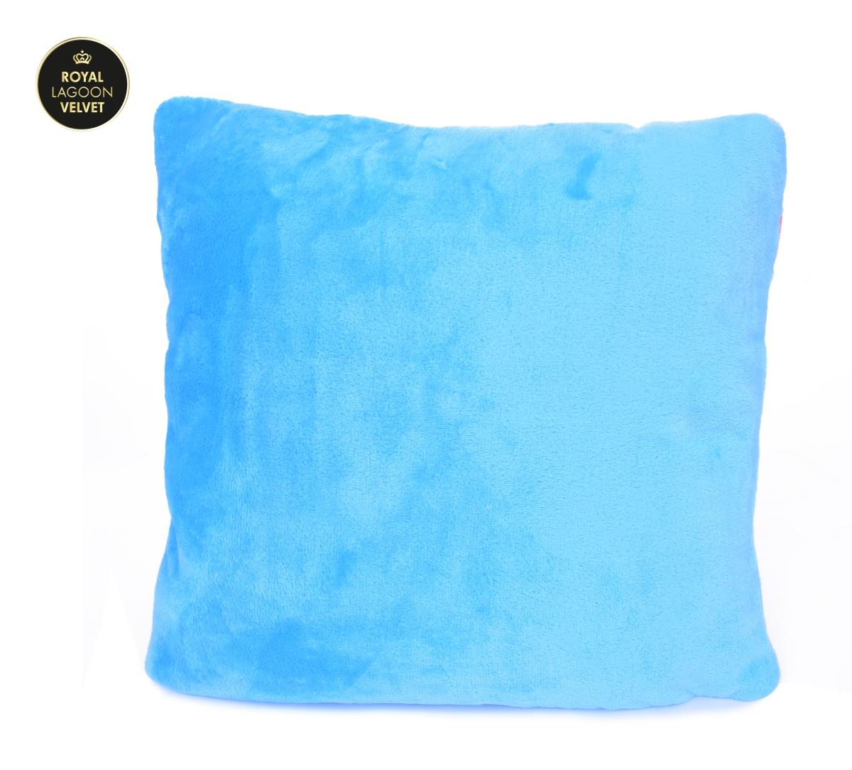 ROYAL LAGOON VELVET potah na polštář blankytně modrý