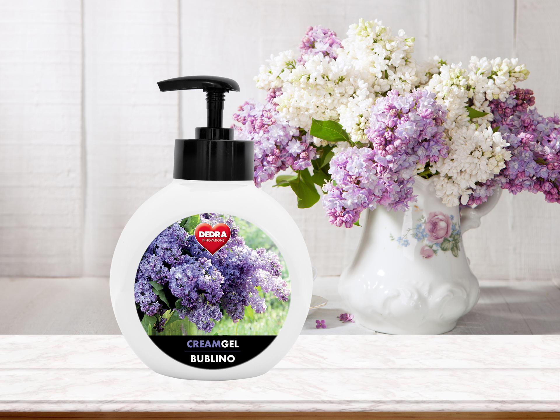 BUBLINO CREAMGEL dolce lilla, tekuté mýdlo na tělo i ruce, s pumpičkou