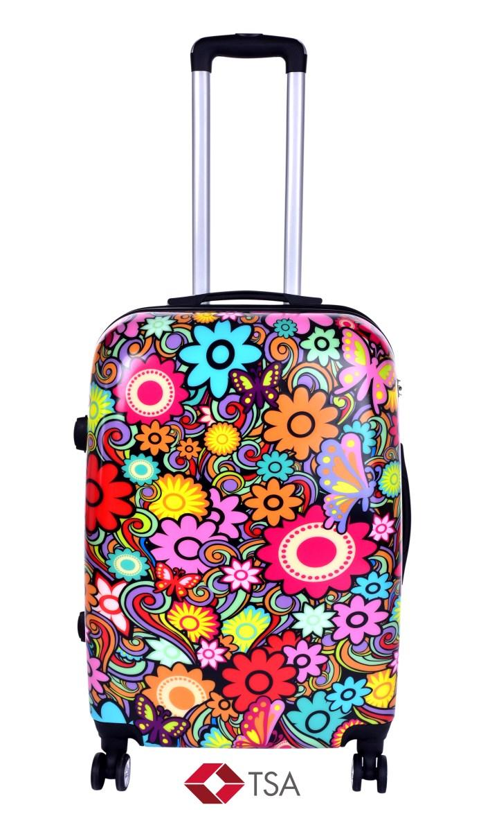 TSA kufr střední, COLOR FLOWERS