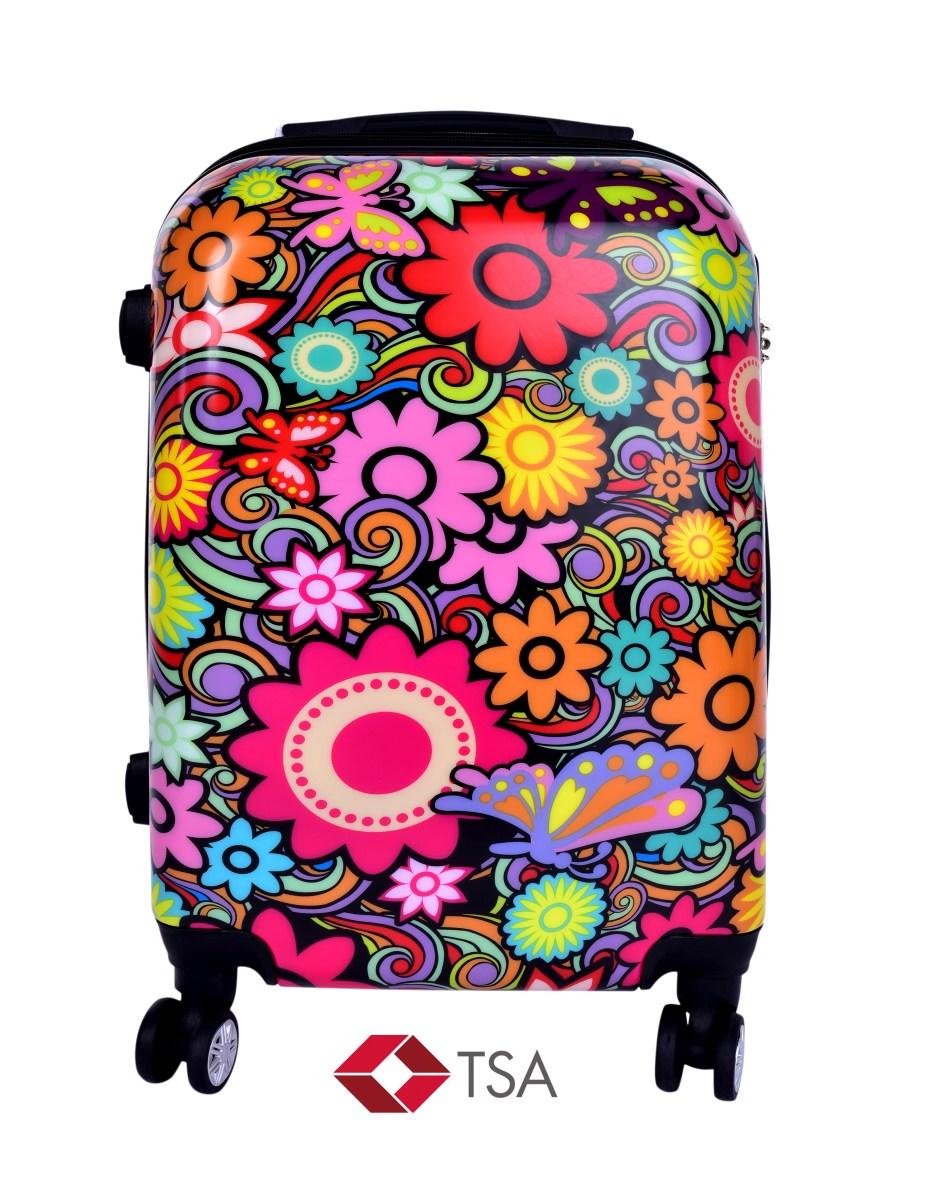 TSA kufr menší COLOR FLOWERS 37 x 23 x 50 cm