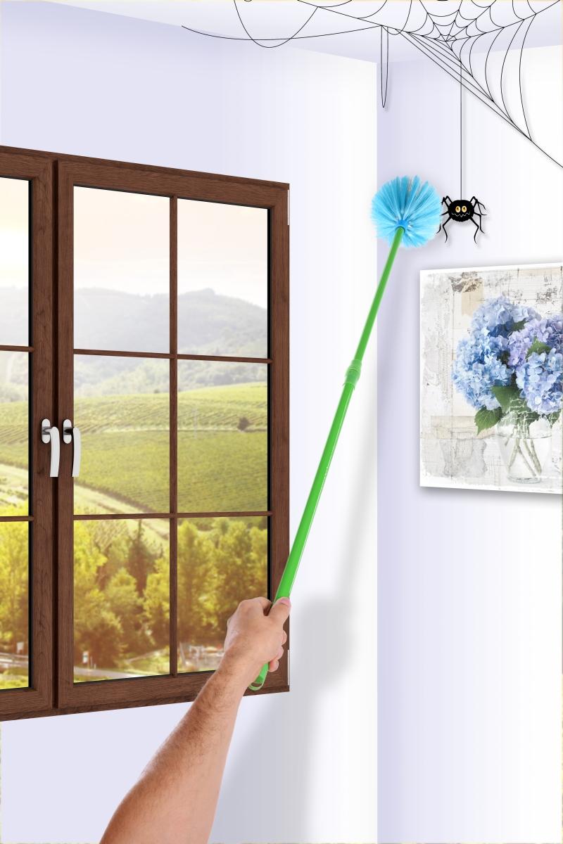 DA23102-PAVUČINÁTOR/VYMEŤKOUT teleskopický vymetač pavučin modrý