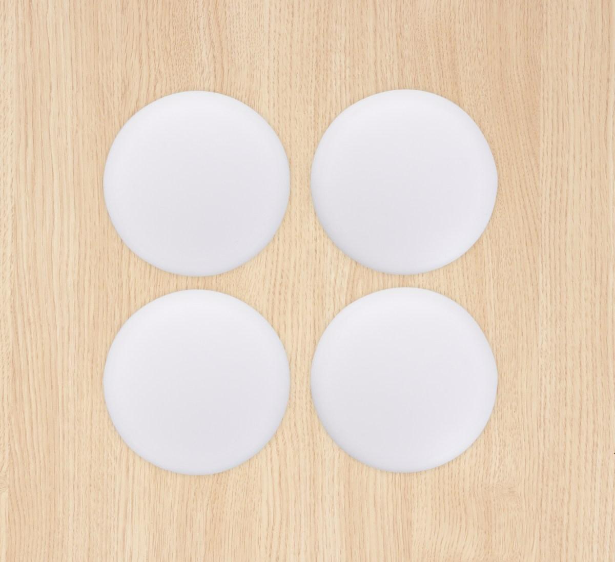 4 ks samolepící silikonové podložky proti nárazu dveří  kulaté, bílé