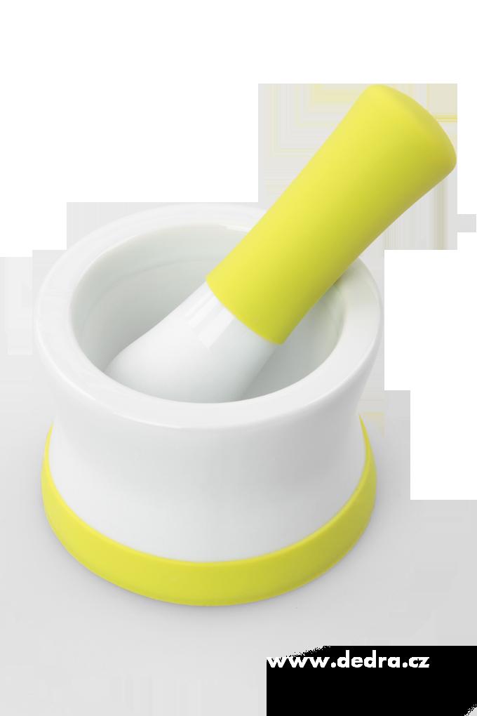 Porcelánový hmoždíř na bylinky a koření se silikonovou základnou