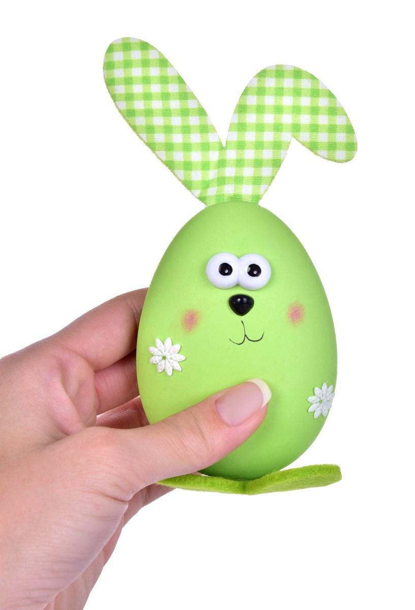 2 ks zajíček - vajíčko, velikonoční závěsná dekorace  s propracovanými detaily