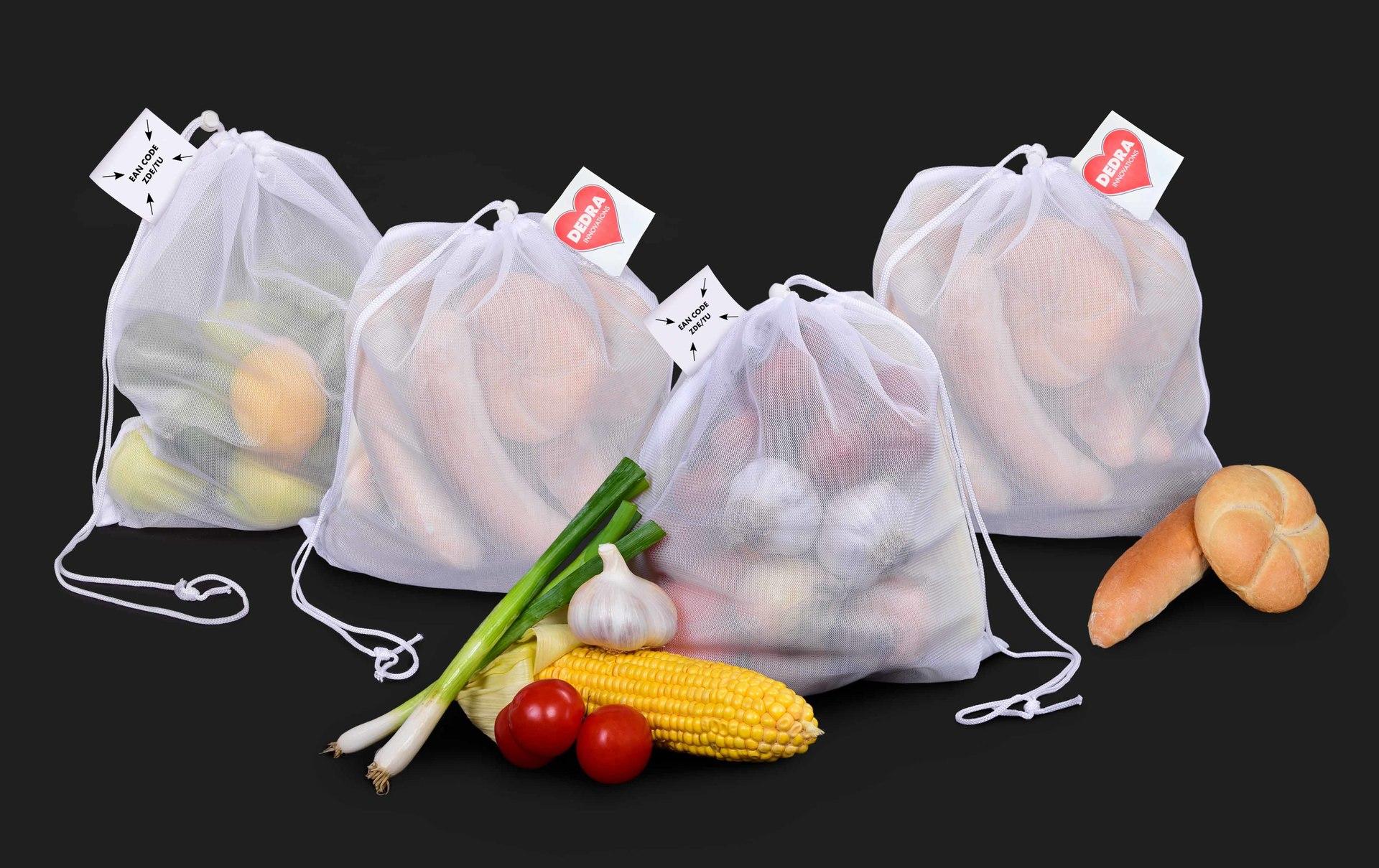 4ks EKOPYTLÍK na potraviny, pečivo, zeleninu a ovoce, VÝHODNÁ SADA