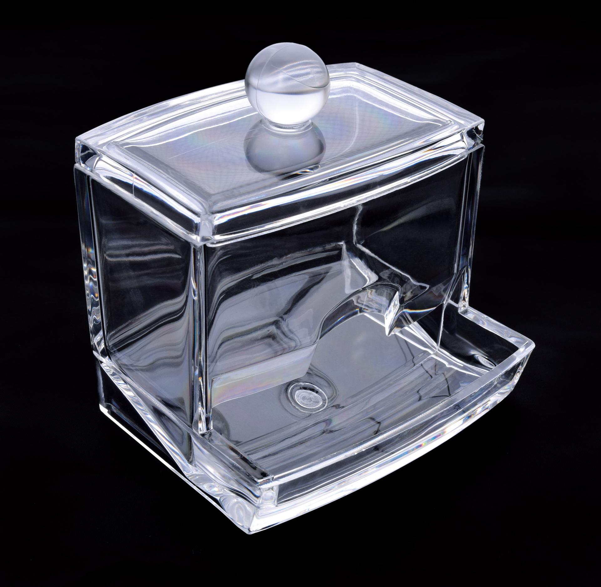 Dóza na vatové tyčinky/uchošťoury, z pevného plastu