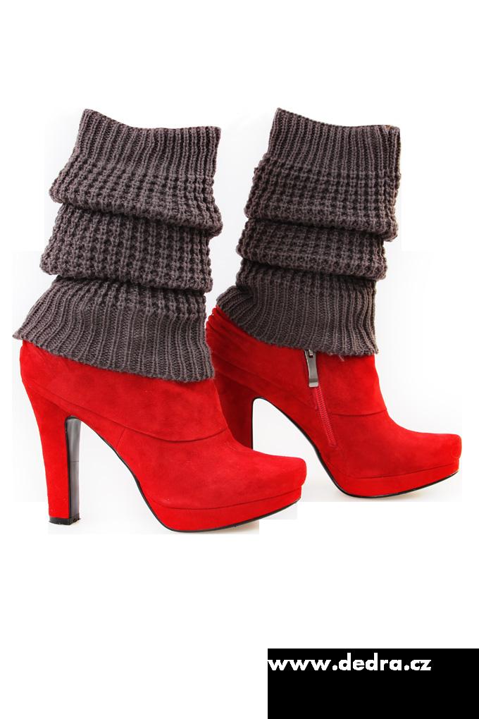 2 ks pletených návleků na nohy