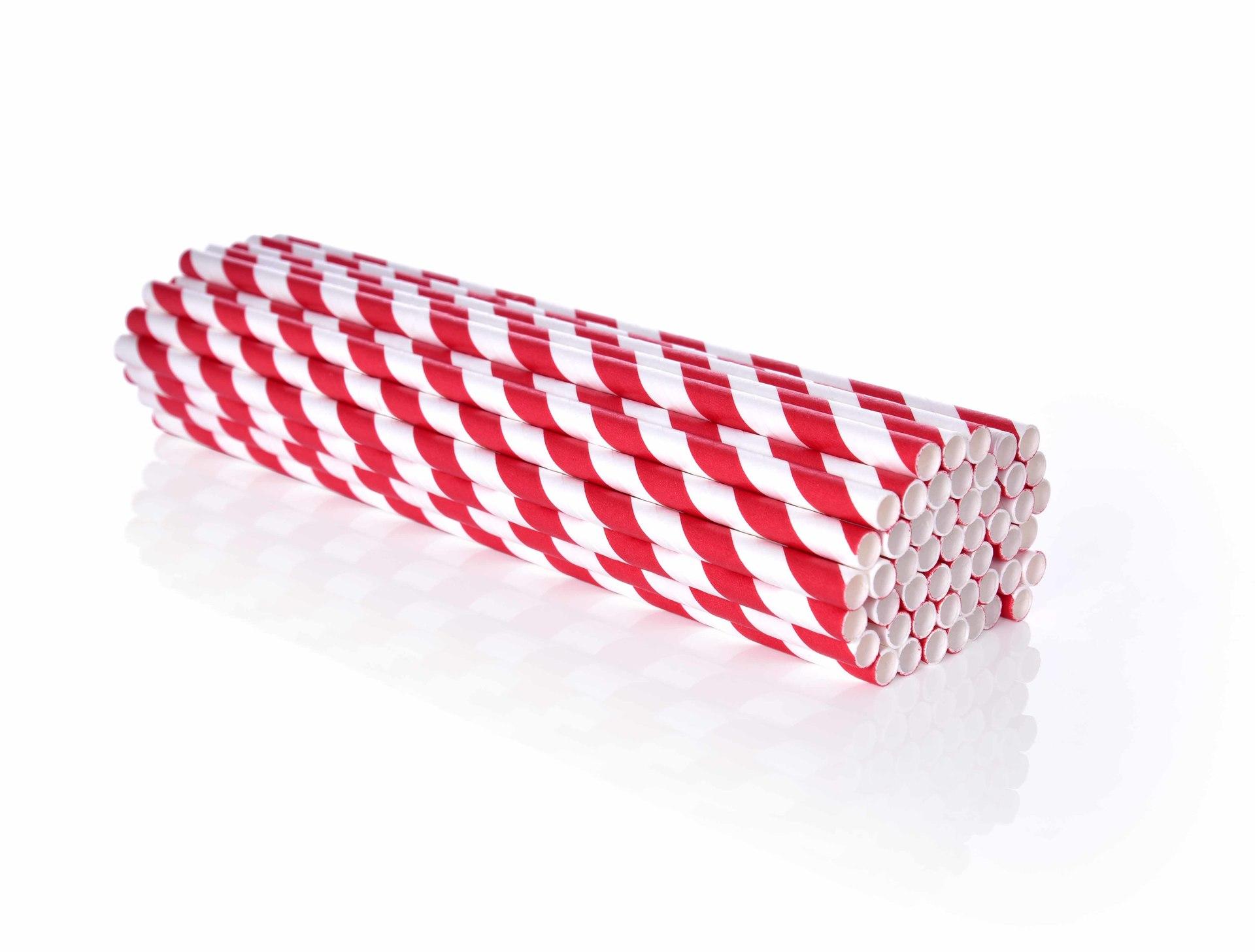 EKOSLÁMKY papírové jednorázové GoEco® 50 ks červené